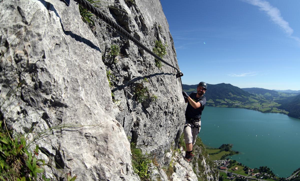 Klettersteig Drachenwand Topo : Check der drachenwand klettersteig c d bergwelten