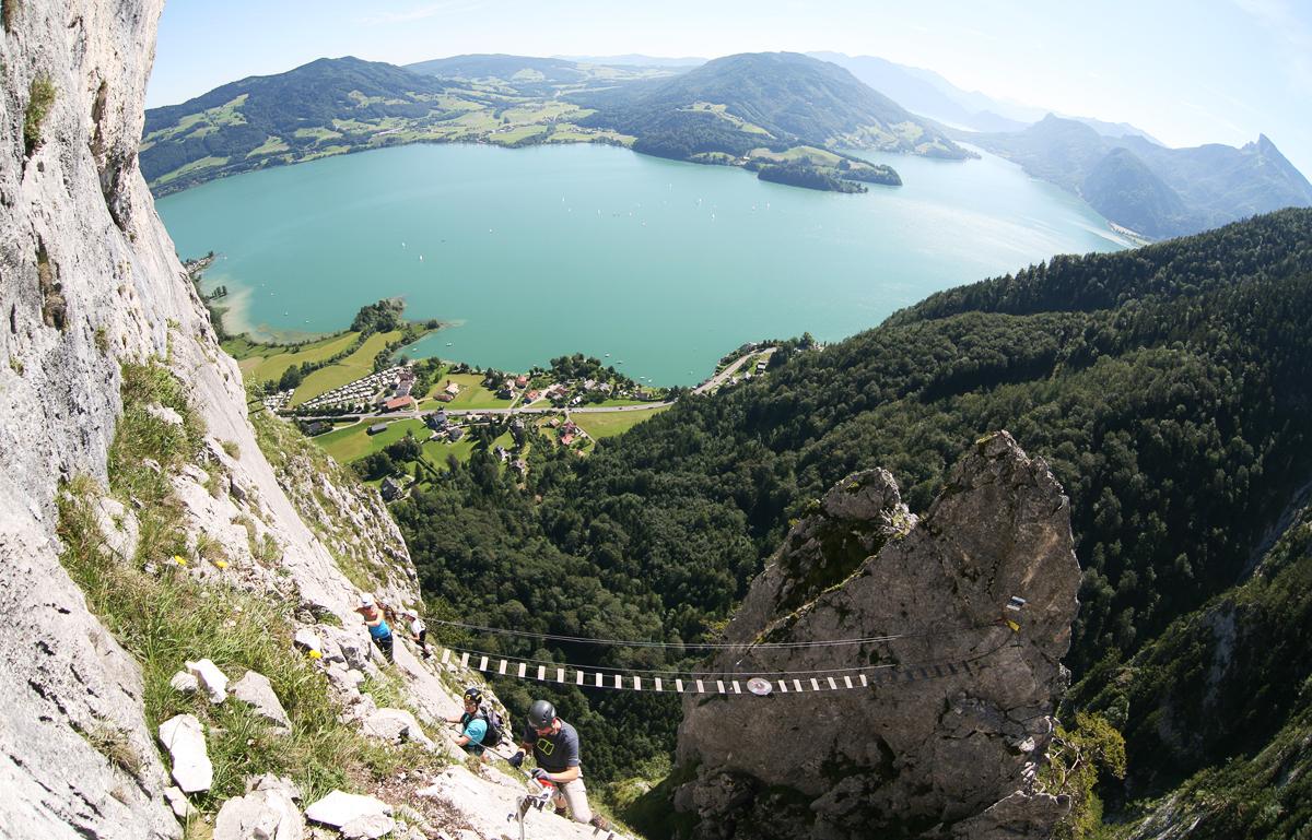 Klettersteig Drachenwand : Drachenwand klettersteig mondsee forum gipfeltreffen